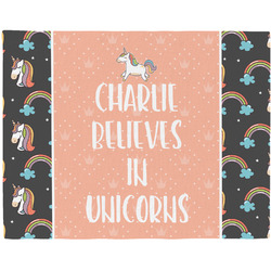 Unicorns Woven Fabric Placemat - Twill w/ Name or Text