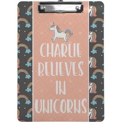 Unicorns Clipboard (Personalized)