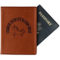 Unicorns Leatherette Passport Holder (Personalized)