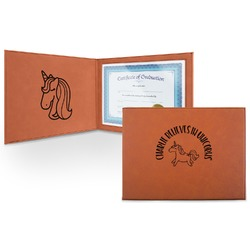 Unicorns Leatherette Certificate Holder (Personalized)