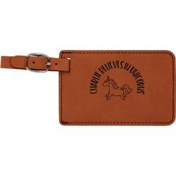 Unicorns Leatherette Luggage Tag (Personalized)
