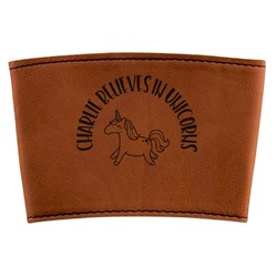 Unicorns Leatherette Cup Sleeve (Personalized)