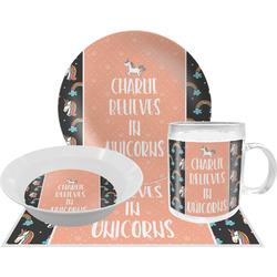 Unicorns Dinner Set - 4 Pc (Personalized)