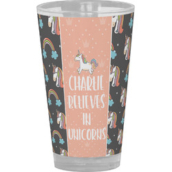 Unicorns Drinking / Pint Glass (Personalized)