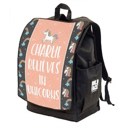 Unicorns Backpack w/ Front Flap  (Personalized)