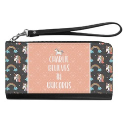 Unicorns Genuine Leather Smartphone Wrist Wallet (Personalized)