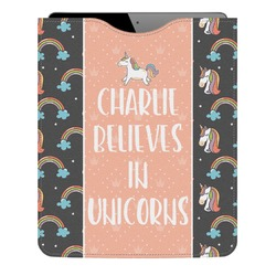 Unicorns Genuine Leather iPad Sleeve (Personalized)