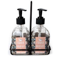 Unicorns Soap & Lotion Dispenser Set (Glass) (Personalized)