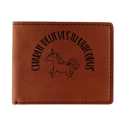 Unicorns Leatherette Bifold Wallet (Personalized)