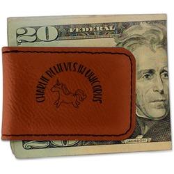 Unicorns Leatherette Magnetic Money Clip (Personalized)