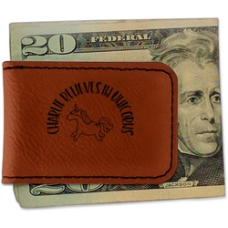 Unicorns Leatherette Magnetic Money Clip (Personalized)