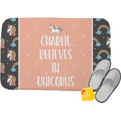 Unicorns Memory Foam Bath Mat (Personalized)