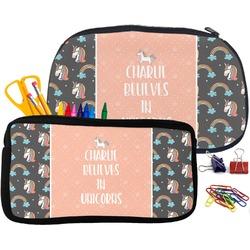 Unicorns Neoprene Pencil Case (Personalized)