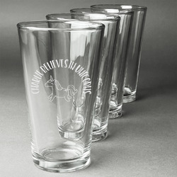 Unicorns Beer Glasses (Set of 4) (Personalized)