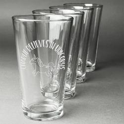 Unicorns Beer Glasses (Set of 4) (Personalized)