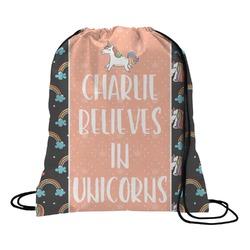 Unicorns Drawstring Backpack (Personalized)