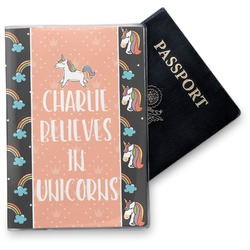 Unicorns Vinyl Passport Holder (Personalized)