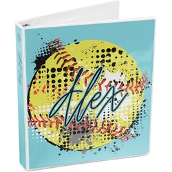 Softball 3-Ring Binder (Personalized)