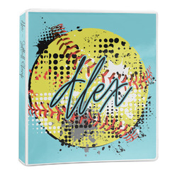 Softball 3-Ring Binder - 1 inch (Personalized)