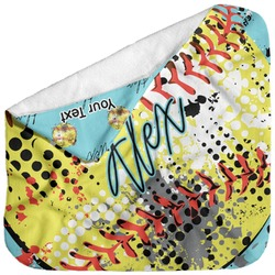 Softball Baby Hooded Towel (Personalized)