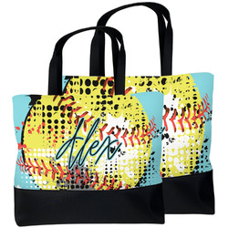 Softball Beach Tote Bag (Personalized)