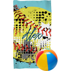 Softball Beach Towel (Personalized)