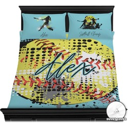 Softball Duvet Cover Set (Personalized)