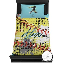 Softball Duvet Cover Set - Twin (Personalized)