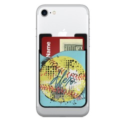 Softball Cell Phone Credit Card Holder (Personalized)