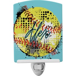 Softball Ceramic Night Light (Personalized)