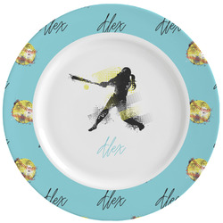Softball Ceramic Dinner Plates (Set of 4) (Personalized)