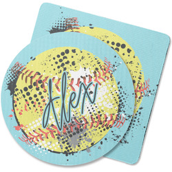 Softball Rubber Backed Coaster (Personalized)