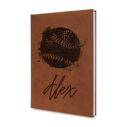 Softball Leatherette Journal (Personalized)