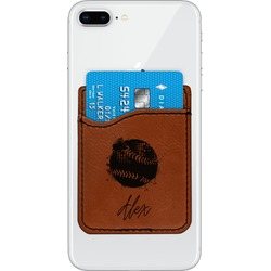 Softball Leatherette Phone Wallet (Personalized)