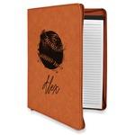 Softball Leatherette Zipper Portfolio with Notepad (Personalized)