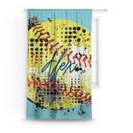Softball Curtain (Personalized)