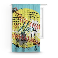 Softball Curtain (Personalized)