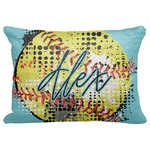 "Softball Decorative Baby Pillowcase - 16""x12"" (Personalized)"