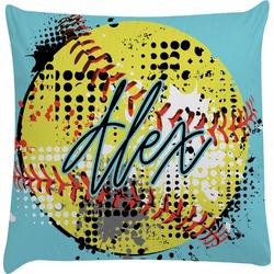 Softball Decorative Pillow Case (Personalized)