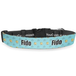 """Softball Deluxe Dog Collar - Extra Large (16"""" to 27"""") (Personalized)"""