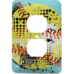 Softball Electric Outlet Plate (Personalized)