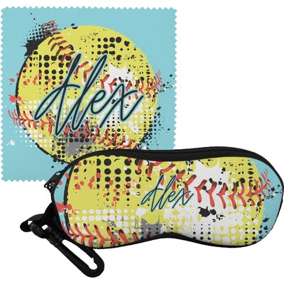 Softball Eyeglass Case & Cloth (Personalized)