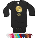 Softball Foil Bodysuit - Long Sleeves - Gold, Silver or Rose Gold (Personalized)