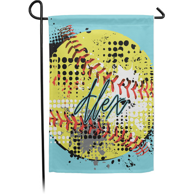 Softball Garden Flag - Single or Double Sided (Personalized)