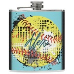 Softball Genuine Leather Flask (Personalized)