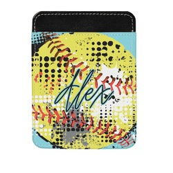Softball Genuine Leather Money Clip (Personalized)