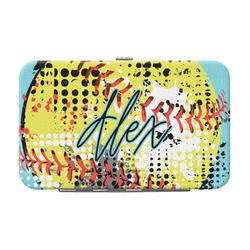 Softball Genuine Leather Small Framed Wallet (Personalized)