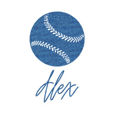 Softball Glitter Sticker Decal - Custom Sized (Personalized)