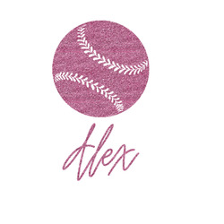 "Softball Glitter Sticker Decal - Up to 4.5""X4.5"" (Personalized)"