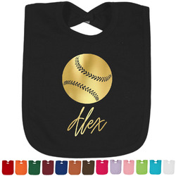 Softball Foil Baby Bibs (Select Foil Color) (Personalized)